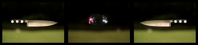 Blow Up, Üç kanallı video düzenlemesi, 4' 02'', 2010 - 2011. Görsel Kaynağı: Galeri NON